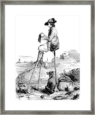 Framed Print featuring the photograph Landes Shepherd, Childrens Fairy by British Library