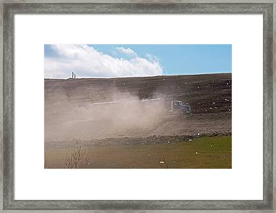 Landfill Delivery Truck Framed Print by Jim West
