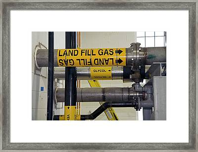 Landfill Gas Generating Electricity Framed Print
