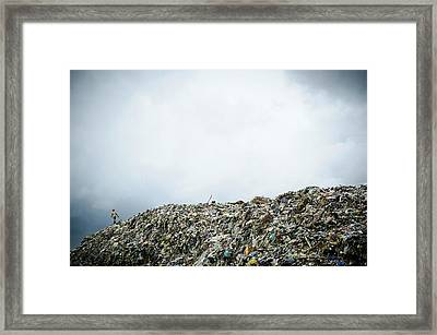 Landfill Framed Print by Matthew Oldfield