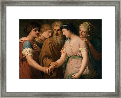 Landi Gaspare, The Marriage Of Sarah Framed Print by Everett
