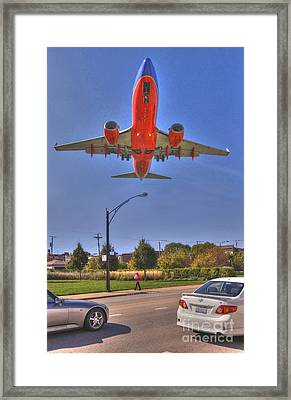 Landing At Midway Framed Print