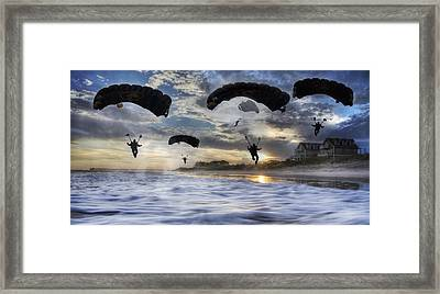 Landing At Sunset Framed Print by Betsy Knapp
