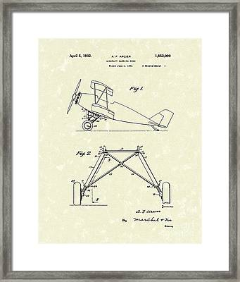 Landing Gear 1932 Patent Art Framed Print