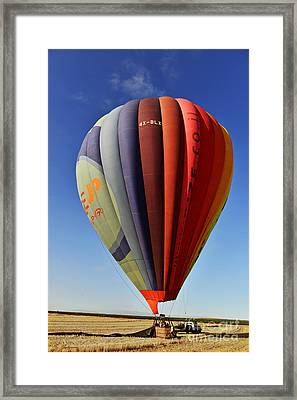 Landing In Field Framed Print
