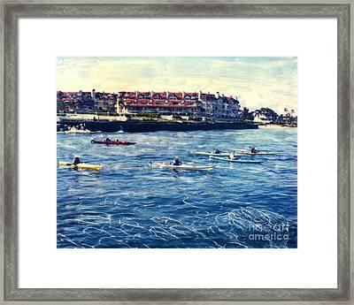 Landing Kayaking Framed Print