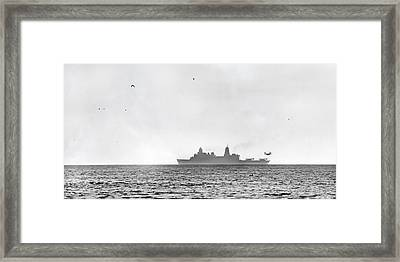 Landing On The Horizon Framed Print