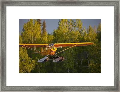 Landing Super Cub Framed Print by Tim Grams