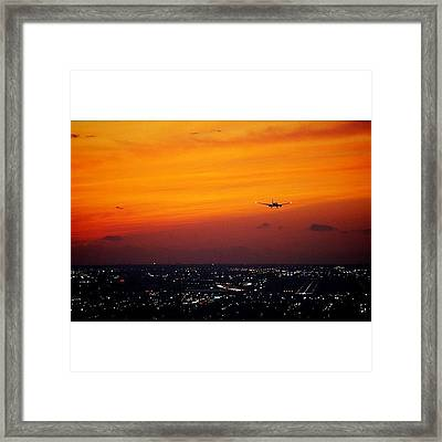 Landing To The Magic City Framed Print