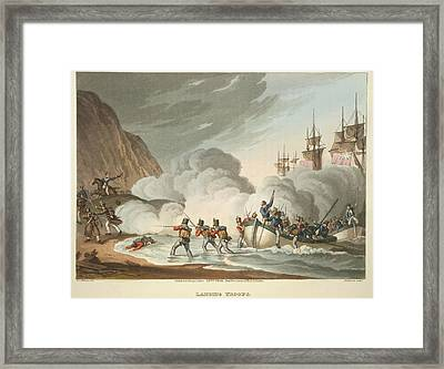 Landing Troops Framed Print