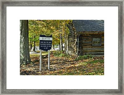 Landline Anyone Framed Print by Frozen in Time Fine Art Photography