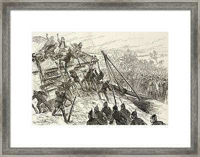 Landlord Evicting Tenant Farmers, Artwork Framed Print by British Library