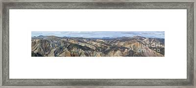 Landmannalaugar Iceland Panorama 2 Framed Print by Rudi Prott