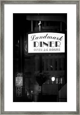 Landmark Diner Framed Print by Mark Andrew Thomas