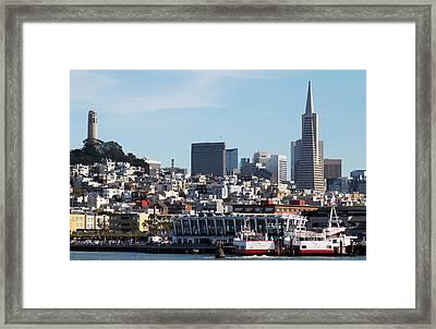Landmarks Framed Print by Bernard  Barcos