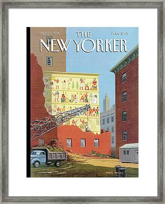 Landmarks Commission To Meet In Special Session Framed Print by Bruce McCall