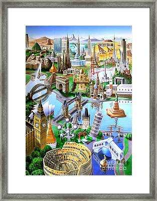Landmarks Of The World Framed Print