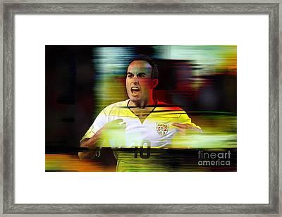 Landon Donovan Framed Print by Marvin Blaine