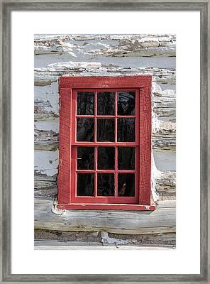 Landow Cabin Window Framed Print