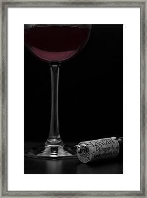 Wine And Cork Framed Print