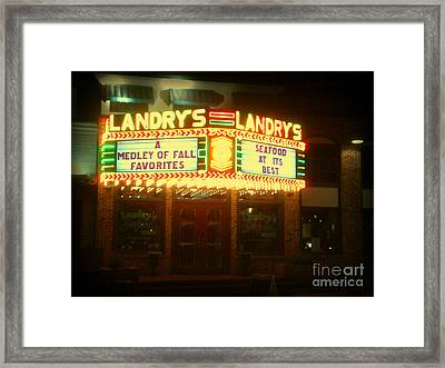 Landry's Seafood In Lomoish Framed Print