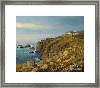 Land's End In Cornwall Framed Print by Kiril Stanchev