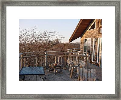 Lands End Inn Provincetown Framed Print by Mike McCool