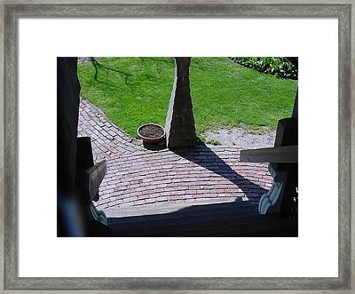 Lands End Inn Stairwell Framed Print by Mike McCool