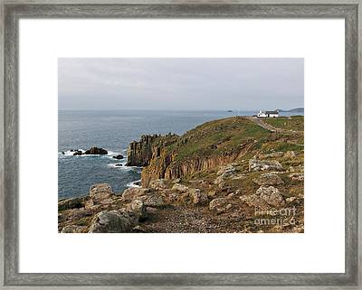Land's End The Most Western Point Of Uk Framed Print