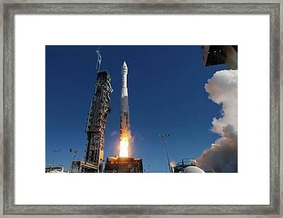 Landsat 8 Launch Framed Print by Nasa