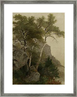 Landscape Framed Print by Asher Brown Durand