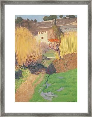 Landscape At Lagnes Framed Print