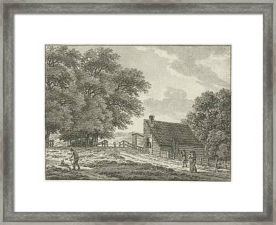 Landscape At Overveen With Walkers, Jan Evert Grave Framed Print
