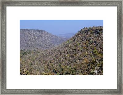 Landscape At Panna National Park In India Framed Print by Robert Preston