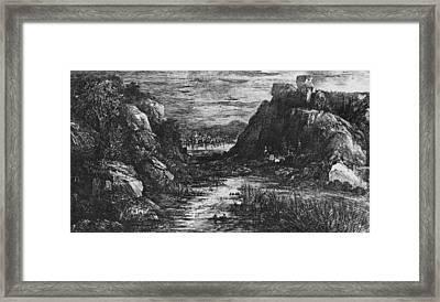 Landscape Behind The Defile Framed Print