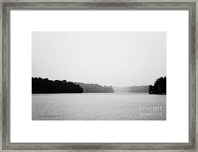Landscape Black And White Fog Framed Print