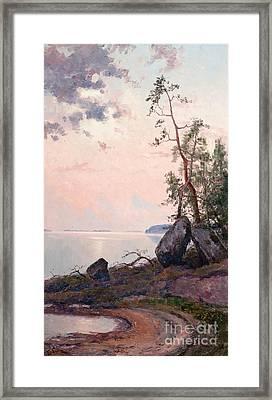 Landscape By The Lake Framed Print