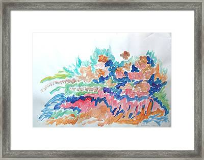 Framed Print featuring the painting Landscape Composition by Esther Newman-Cohen
