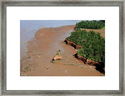 Landscape Created By Tidal Forces Framed Print by Bernard Dupuis