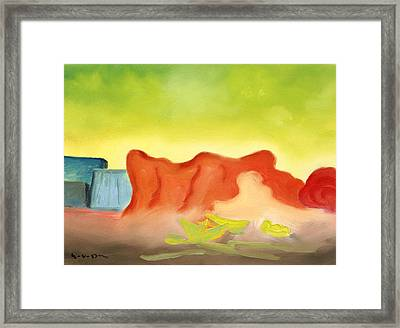 Landscape From A Different System Of Reality Framed Print by William Van Doren