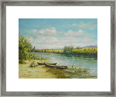 Landscape From Delta Dunarii Framed Print by Petrica Sincu