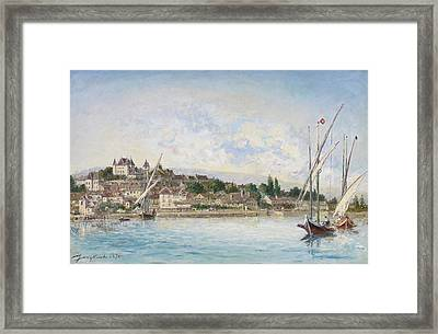Landscape From Lake Leman To Nyon Framed Print