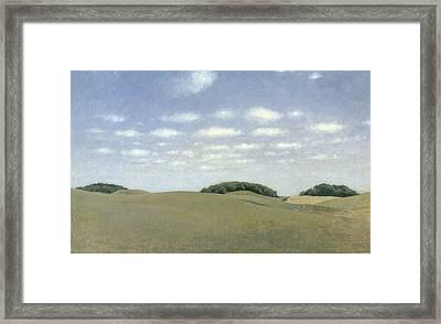 Landscape From Lejre Framed Print by Vilhelm Hammershoi