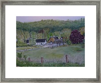 Framed Print featuring the painting Landscape In Denmark by Kelly Mills