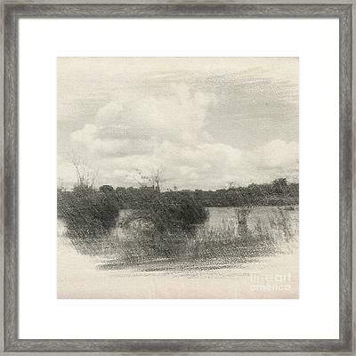 Landscape In Patches Framed Print