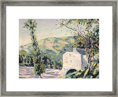 Landscape In Provence Framed Print by French School