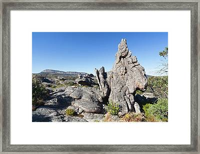Landscape In The Grampians National Framed Print by Martin Zwick