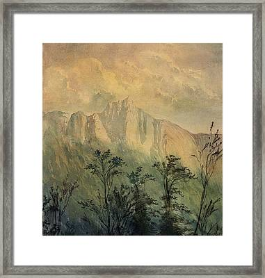 Landscape In The Vosges Framed Print by Gustave Dore