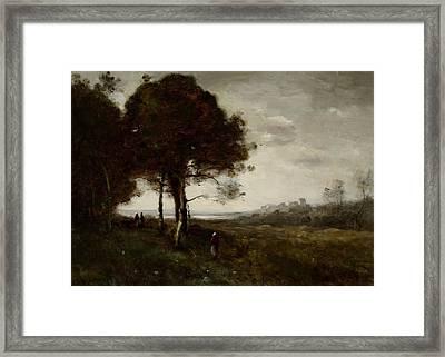 Landscape Framed Print by Jean Baptiste Camille Corot