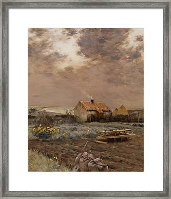 Landscape Framed Print by Jean Charles Cazin